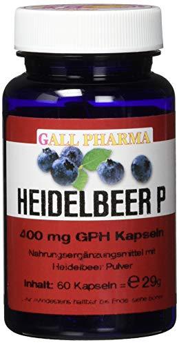 Gall Pharma Heidelbeer P GPH Kapseln, 60 Kapseln