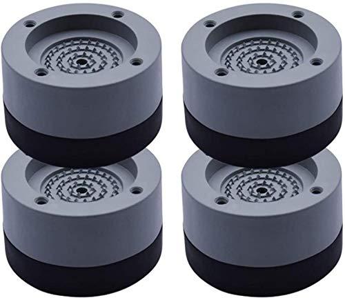 Piedini per lavatrice antivibrazione,Piedini universali in gomma anti vibrazione,Antivibrazioni Supporto per Piedini Anti-Camminata per Tappeto per Lavatrice Regolabile nel Altezza(4Pezzi grigio,35mm)