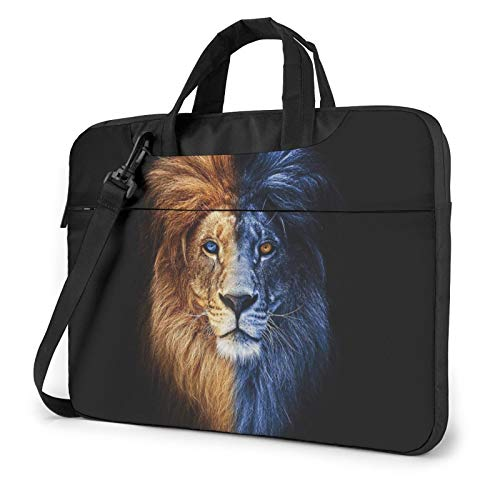 Laptop Shoulder Bag - 3D Animal Lions Printed Printed Shockproof Waterproof Laptop Shoulder Backpack Bag Briefcase 13 Inch