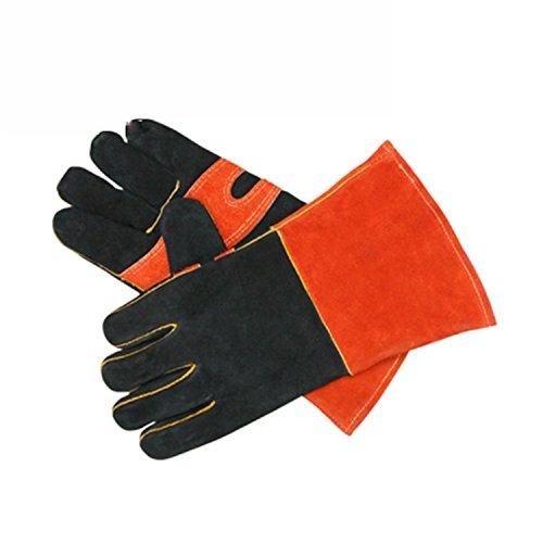 NANXCYR Lichtgewicht Kookhandschoenen 932°F Extreme BBQ Grill Hittebestendige Oven Handschoenen Antislip Handschoen Dikke Handschoenen Nederlandse Oven Open Haard Gereedschap Outdoor Werken (1 paar)