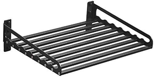 ZHJBD display voor decoratie thuis / zwart aluminium magnetron plank wandplank keuken rek oven rack opslag Pot Rack houder (afmetingen: 40 x 34 x 15 cm)