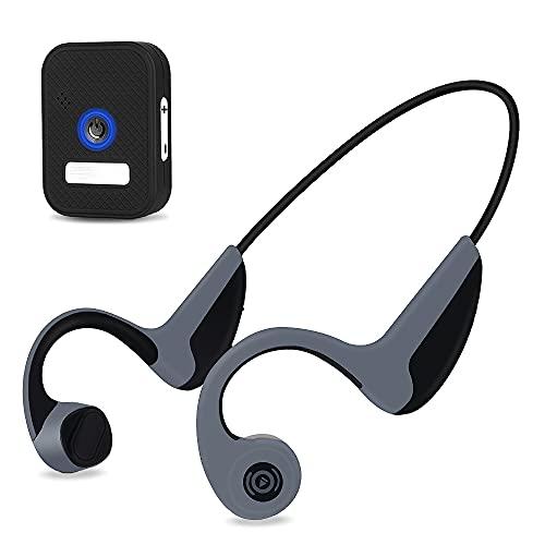 骨伝導 ヘッドホン ワイヤレス テレビ用 Bluetooth5.0 イヤホン 耳掛け式イヤホン自動ペアリング マイク内蔵 ヘッドセット耳が疲れない ブルートゥース 日本語音声 ハンズフリー イヤホン スポーツ 一 付き トランスミッター レシーバー 付き
