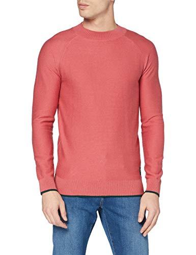 Scotch & Soda Hochgeschlossenes Sweatshirt aus Baumwoll-wollmischung Sudadera, 3930 Pink Smoothie, L para Hombre