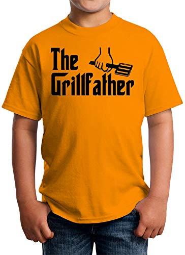 It's The Grill Father Unisex T-shirt voor kinderen 5-13 jaar, wit