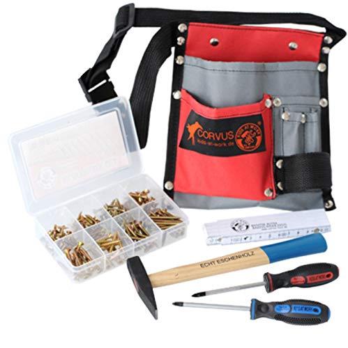 CORVUS Werkzeuggürtel Textil enthält: 2 Schraubenzieher Kreuz PH1/PH2, Box Holzschrauben,...