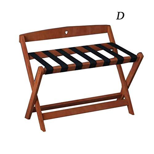For Sale! Luggage Rack - Made of Solid Wood - Foldable Design - 5 for Home, Bedroom/Hotel Racks - Da...