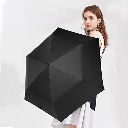 日傘超軽量(135g)折りたたみ傘UVカット遮光遮熱晴雨兼用折り畳み日傘300T高強度カーボンファイバー収納ポーチ付きブラック