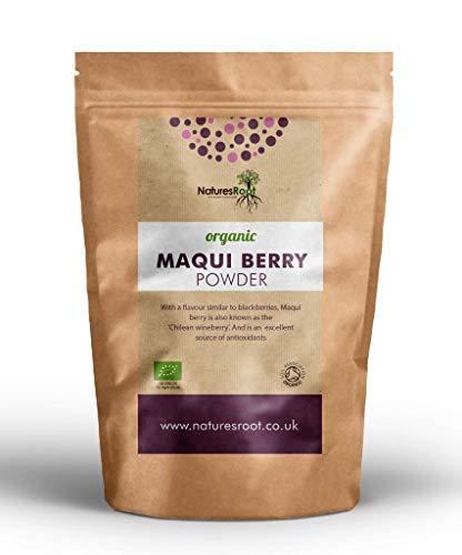 Nature's Root Bio Maqui Beerenpulver 30g - Super-Beere | Chilenische Weinbeere | Rohes Beerenpulver | Ohne Zusatzstoffe | Gefriergetrocknet