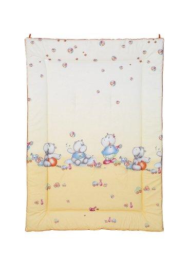 Julius Zöllner 9500019159 Tapis d'éveil Bordure env. 95/135 - Hippos abricot