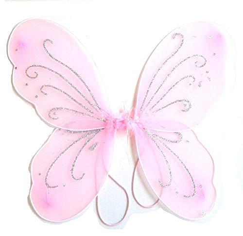 3/7 jaar - kostuumaccessoire - vermomming - carnaval - halloween - theater - vlindervleugels - fee - roze kleur - meisje