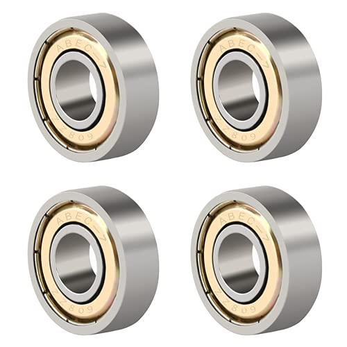 608 ZZ Ball Bearings, Skate Bearings Double Shielded Miniature Ball Bearings for Skateboards, Inline Skates, Scooters ABEC 7 Bearing (8mm x 22mm x 7mm) 4PCS