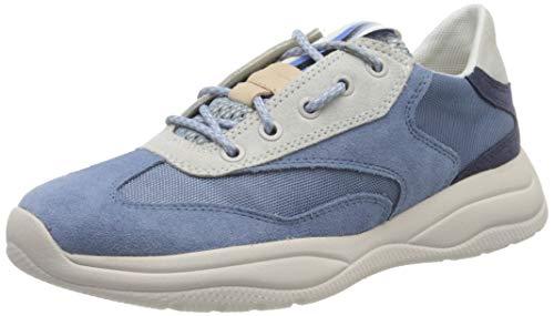 Geox Damen D SMERALDO A Sneaker, Blau (LT Blue C4003), 36 EU