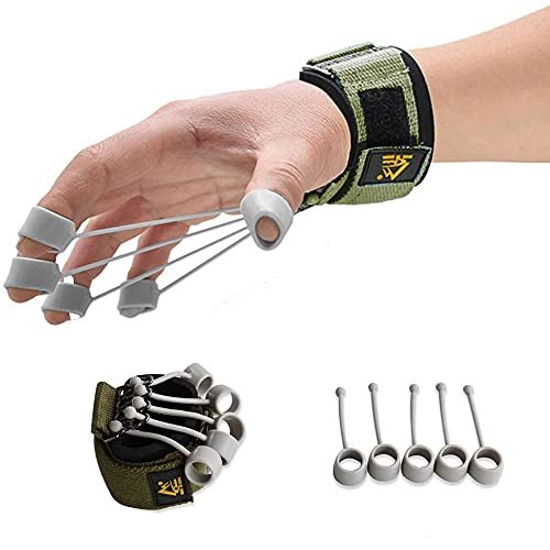hand exercise equipment ANWAN 20lb Grip Strength Trainer Set Finger Strengthener Hand Exercise Equipment Arthritis Wrist Therapy Kit Guitar Finger Trainers Spreader Forearm Stretcher Expander Climbing Gripper Piano Ball