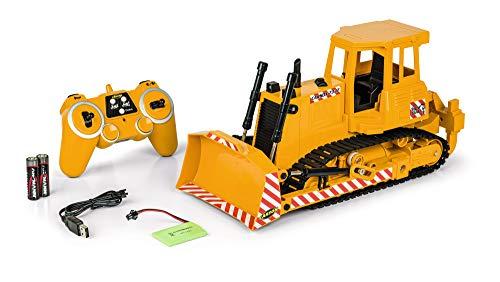 Carson 1:20 RC Bulldozer 2,4G 100% RTR, Ferngesteuertes Fahrzeug, Baufahrzeug mit Funktionen Licht und realistischen Sound, inkl. Batterien und Fernsteuerung, 500907337