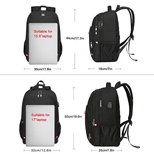 Laptop Rucksack Herren Anti-Diebstahl Rucksack für 15,6 zoll Laptop Schulrucksack Daypack Multifunktion Business Notebook Taschen Wasserdicht Großer mit USB-Ladeschlitz für Arbeit Reisen,für Männer