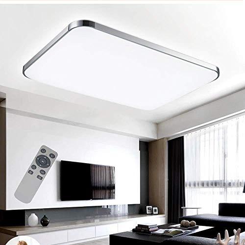 COOSNUG Plafoniere 72W Dimmerabile Ultraslim LED Lampada da soffitto Moderna camera da letto Cucina Corridoio Lampada soggiorno (Argento Dimmerabile 3000-6500K)