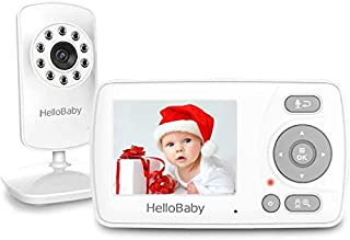 Hellobaby monitor Video Baby Monitor with Camera and Audio, HelloBaby Monitor Two-Way Talk, Baby Monitor Infrared Night Vi...