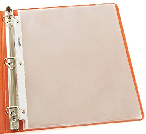 AmazonBasics Clear Sheet Protectors for 3-Ring Binders - Letter Size (100 Pack)