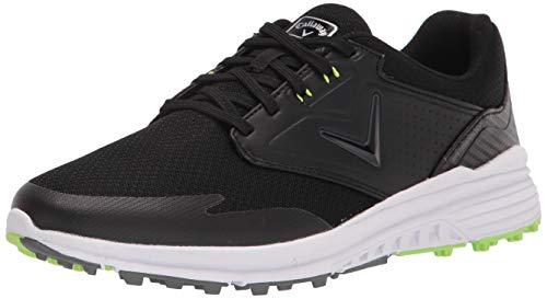 Callaway Men's Solana SL Golf Shoe, Black/Lime, 10