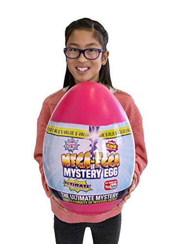 Mega-Egga Toys Ultimate Surprise Giant Mystery Egg - Girls Pink Color 15' Jumbo MegaEgga
