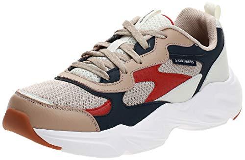 Skechers Mens Stamina Airy Labak Beige Athletic Cross Training Shoes 8.5