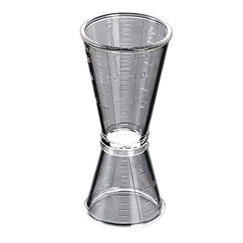 Milopon - Bicchiere dosatore in plastica con misurino a spirito, misura M