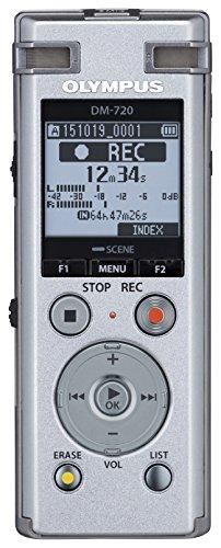 Olympus DM-720 hochwertiges digitales Diktiergerät mit TRESMIC, fortschrittlicher Wiedergabe, direktem USB, Zoom-Mikrofon, intelligentem Auto-Modus, Noise Cancel, Transkriptionsmodus und 4 GB Speicher