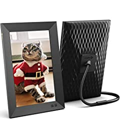 GIFT THE TOP-SELLING FRAME AND STAY CONNECTED: Share photos and videos from your phone or by email to the Nixplay frame, wherever it is; A great gift for new parents, grandparents, newlyweds, college kids or families separated by distance SHARE PHOTO...