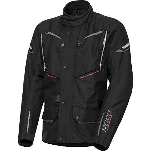 FLM Motorradjacke mit Protektoren Motorrad Jacke Touren Textiljacke 2.0 schwarz/anthrazit XL, Herren, Tourer, Ganzjährig