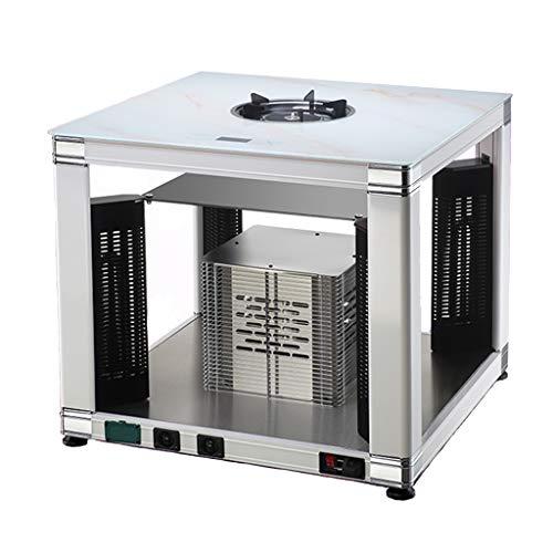 Heizlüfter ADKINC 26.000 BTU Heater Ceramic Space Heater, mit/Überhitzungsschutz & Kippschutz, Office Home - Gas und Strom, (Silber)