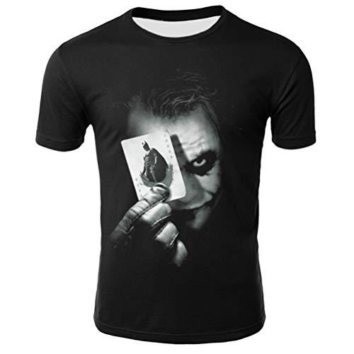 FZWAI Slim Fit Shirt met korte mouwen Men's 3D drukwerk Sport met korte mouwen Casual Top ronde hals shirts Tops