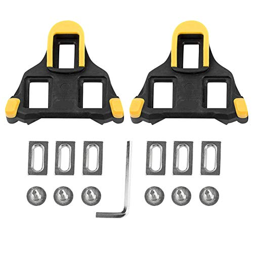 XinXiang Cleat Set 0/4.5/9 Degree Float Road Bike Pedal Cleats compatible con...