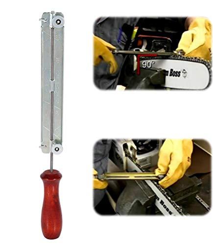 Kit de afilador de sierra de cadena Sierra de motosierra y lima de afilado Afilado de afilado Kit de motosierras de sujeción con soporte de madera 4.0mm / 4.8mm / 5.5mm(4.0mm)
