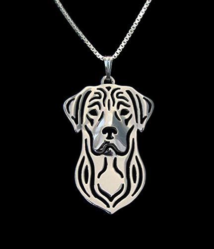 Hundekette Labrador Retriever Handgemachte Halskette geschnitzt Hohl Anhänger Schmuck Goldene Farben Überzogen Schnelle Lieferung