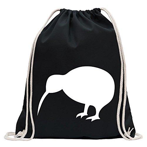 KIWISTAR - Kiwi / Neuseeland Turnbeutel Fun Rucksack Sport Beutel Gymsack Baumwolle mit Ziehgurt