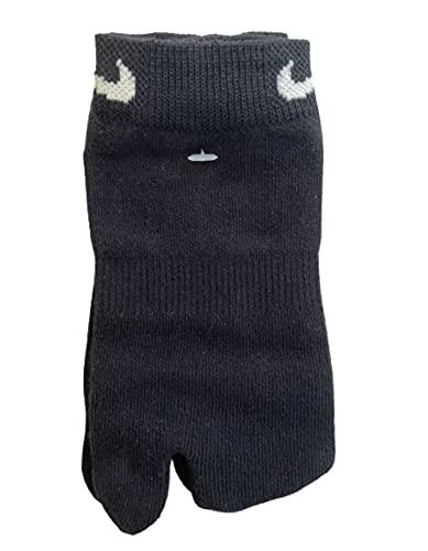 Nike Calcetines Rift Unisex Split Toe Negro (paquete de 2 pares) Original 1990's Vintage (L) UK 8.5 - 10.5, EUR 42.5 - 45.5