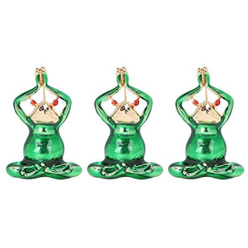3 uds Lindo Broche de Rana Broche de Dibujos Animados Pin Insignias Pines Disfraz Regalos para Mujeres niñas Amantes de los Animales Sombrero Ropa Mochilas(Verde)
