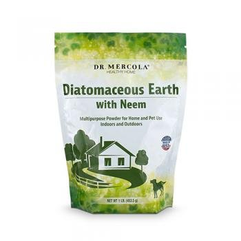 Dr Mercola Diatomaceous Earth with Neem, 453.5g, 1 Bag