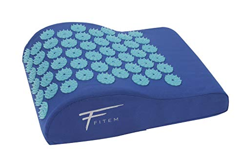 Kit d'acupression XL Fitem - Tapis d'Acupression + Coussin + Boule de Massage - Soulage douleurs Dos et Cou - Sciatique - Massage dos - Relaxation Musculaire - Récupération post-sport