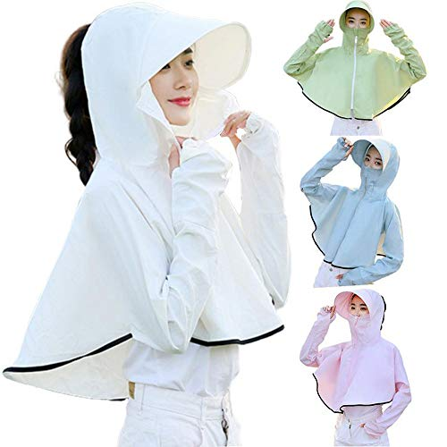 Shirt Zon Cardigan Women ademend UV-bescherming tegen de zon Hoed van het Strand Camping Travel Riding Outdoor Performance,B