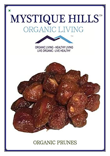 Jexmon Mystique Hills Organic Dried Prunes,Aloo Bukhara, 500 g