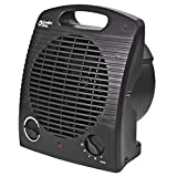 Comfort Zone CZ35E Personal Heater - 1500W Heating Appliance with Energy Save Technology - Fan-Forced Mini Warmer for Bedroom, Office, Indoor Use - Over-Heating & Tip-Over Switch Protection – Black