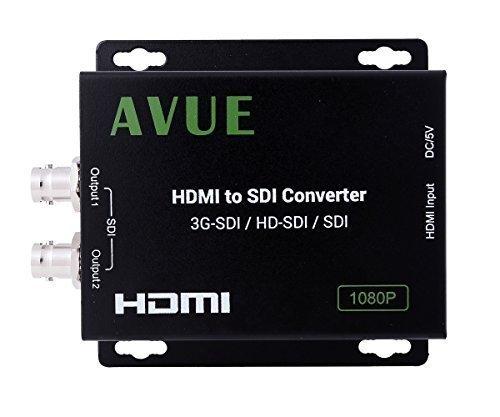 AVUE HDMI to SDI Converter Supports 1080P 1080i 720P 576i 480i Two SDI...
