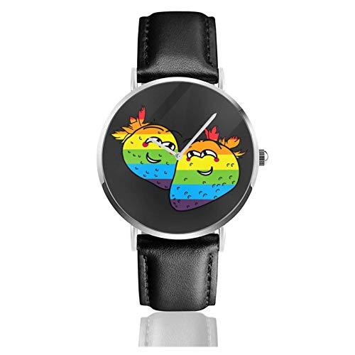 Orologio da Polso al Wrist Watch Analogue Quarzo con Cinturino in PU Watches Fragola Amore