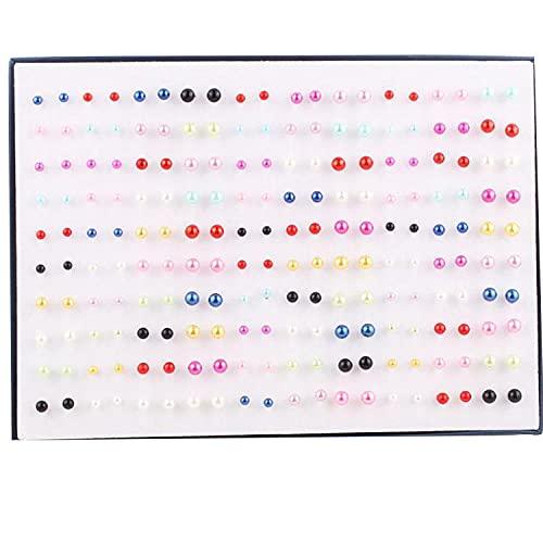 Aretes pendientes en caja pendientes 100 pares de pendientes oreja pequeña-Al azar 1