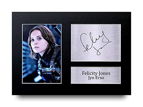 HWC Trading Felicity Jones A4 Ungerahmt Signiert Gedruckt Autogramme Bild Druck-Fotoanzeige Geschenk Für Star Wars Jyn Erso Filmfans