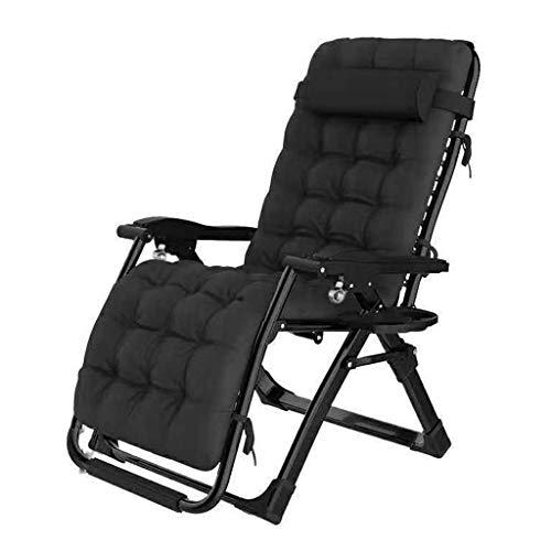Sunlounger, Sun Lounger Recliner Chair Relaxer mit Getränkehalter |Klappbare Gartenstühle mit gepolstertem Kissen und FußstützeSessel für Wohnzimmer Lazy Boy