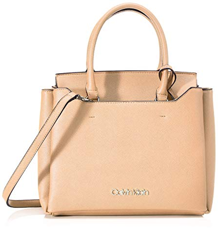 Calvin Klein Damen Worked Sml Tote, Beige (Dark Sand), 12x24x28 centimeters
