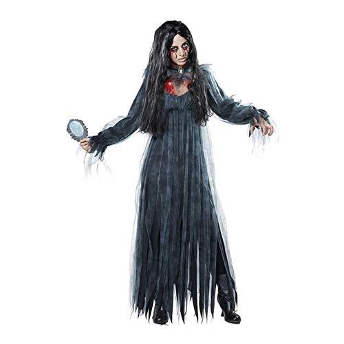 JLWS Frauen Cosplay Halloween Kostüm Horror Ghost Dead Corpse Zombie Brautkleid Halloween Kleider, 1, M.