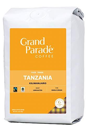 Grand Parade Coffee, 5 Lbs Unroasted Green Coffee Beans - Tanzania AA Kilimanjaro Single Origin - Specialty Arabica - Fair Trade